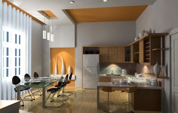 Trần thạch cao phòng bếp – VIN 3