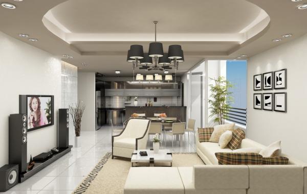 Trần thạch cao phòng khách – VIN 10