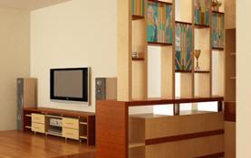 Sử dụng đồ gỗ để nhà rộng bớt trống trải