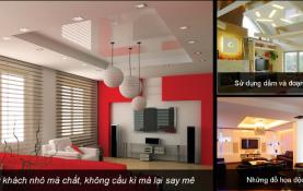 3 xu hướng thiết kế trần thạch cao phòng khách năm 2014
