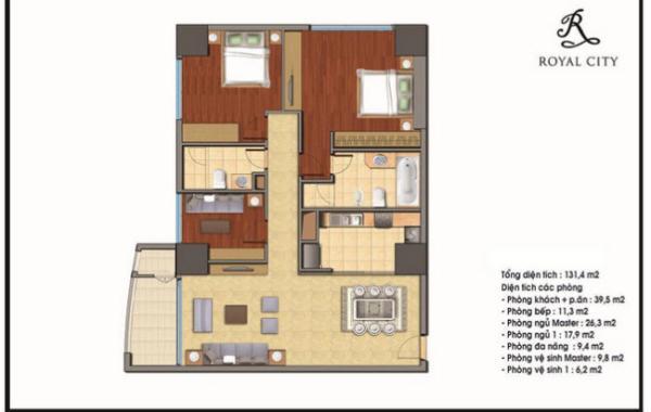 Thiết kế nội thất chung cư royal city tòa R4