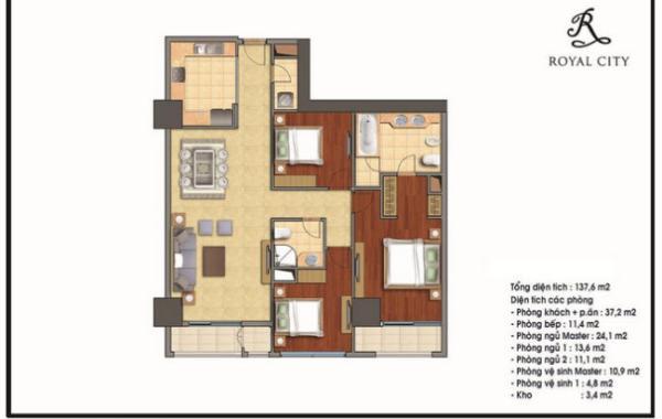Thiết kế nội thất chung cư Royal city tòa R5