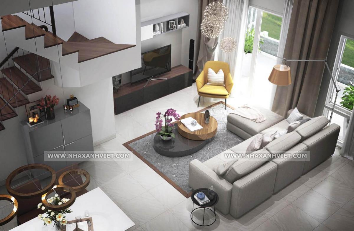 thiết kế nội thất phòng khách biệt thự Park City