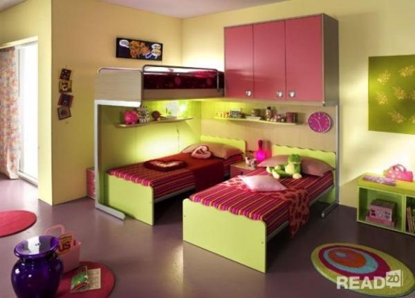 Mẫu thiết kế nội thất phòng ngủ siêu độc đáo với màu xanh cốm