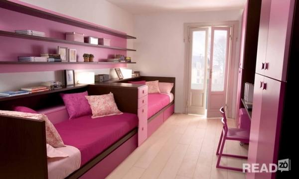 Mẫu thiết kế nội phòng ngủ cho nhà có 2 bé gái số 7