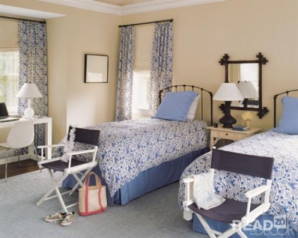 Mẫu thiết kế nội thất phòng ngủ với tông màu xanh dương