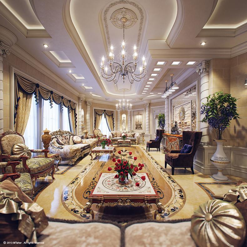 Thiết kế nội thất biệt thự phong cách hoàng gia châu Âu