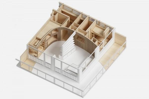 Bản thiết kế nội thất cho nhà chung cư siêu nhỏ
