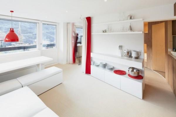 Thiết kế nội thất phòng bếp nhà chung cư siêu nhỏ