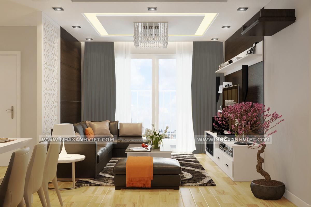 Thiết kế phòng khách nhà chị Nhung