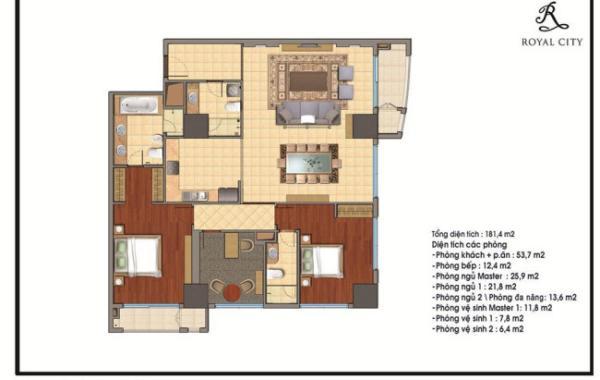 Thiết kế nội thất chung cư royal city R2 đẹp
