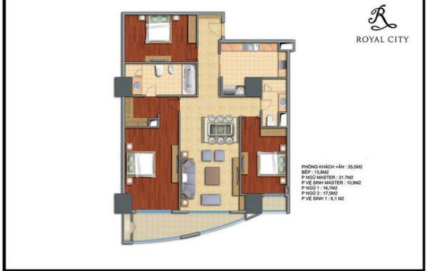 Thiết kế nội thất chung cư royal city R3 hiện đại
